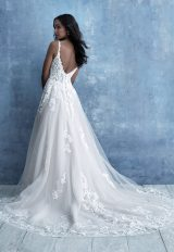 Sleeveless Lace A-line Wedding Dress by Allure Bridals - Image 2