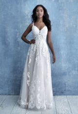 Sleeveless Lace A-line Wedding Dress by Allure Bridals - Image 1