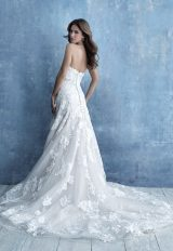 Strapless Sweetheart Neckline A-line Wedding Dress With Floral Appliques by Allure Bridals - Image 2