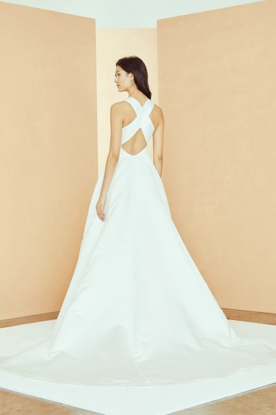 Sleeveless Scoop Neck A-line Wedding Dress With Pockets by Nouvelle Amsale - Image 2