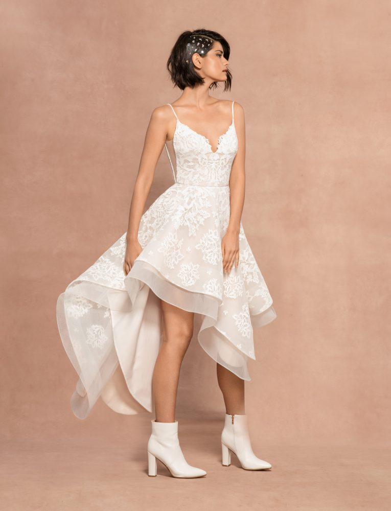 Two Piece Spaghetti Strap A-line Lace Wedding Dress by BLUSH by Hayley Paige - Image 2