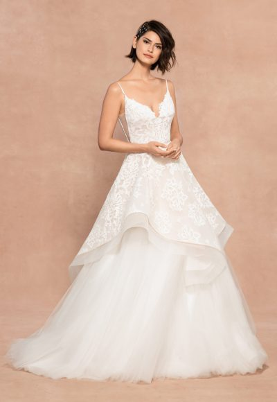 Two Piece Spaghetti Strap A-line Lace Wedding Dress by BLUSH by Hayley Paige