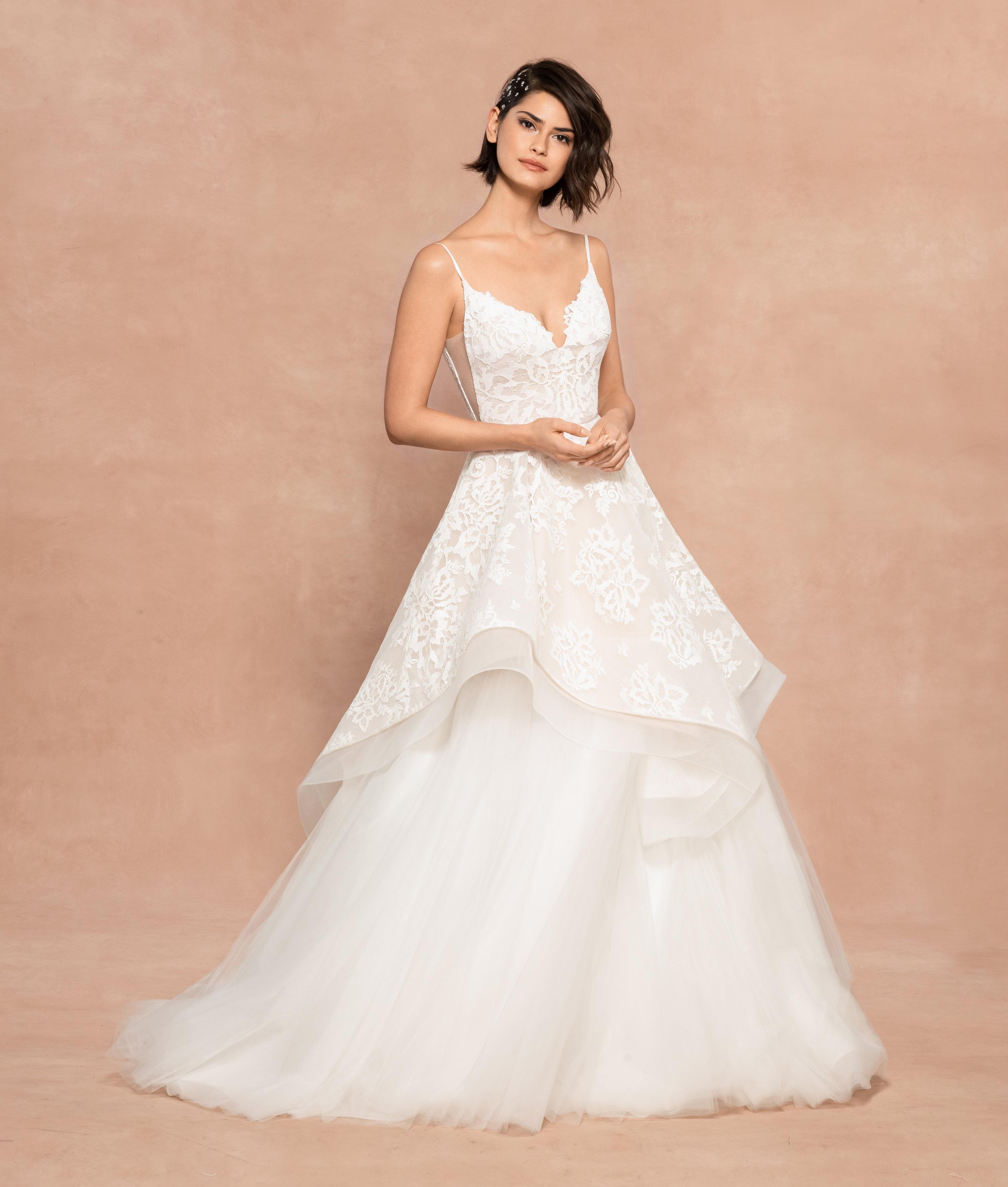 Strap A Line Lace Wedding Dress