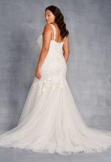 Sleeveless V-neckline Beaded And Embroidered Mermaid Wedding Dress by Danielle Caprese - Image 2