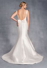 Sleeveless V-neckline Satin Fit And Flare Wedding Dress by Danielle Caprese - Image 2