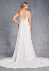 Spaghetti Strap Sweetheart Neckline Beaded Sheath Wedding Dress by Danielle Caprese - Image 2