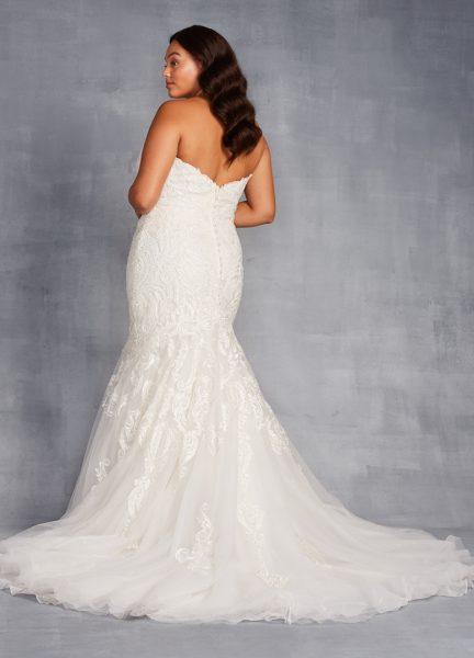 Strapless Sweetheart Beaded Mermaid Wedding Dress by Danielle Caprese - Image 2