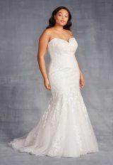 Strapless Sweetheart Beaded Mermaid Wedding Dress by Danielle Caprese - Image 1