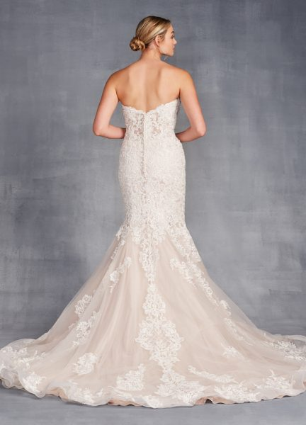 Strapless Sweetheart Neckline Beaded And Embroidered Mermaid Wedding Dress by Danielle Caprese - Image 2