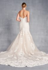 Strapless Sweetheart Neckline Beaded Lace Fit And Flare Wedding Dress by Danielle Caprese - Image 2