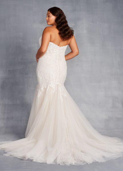 Strapless Sweetheart Neckline Beaded Mermaid Wedding Dress by Danielle Caprese - Image 2