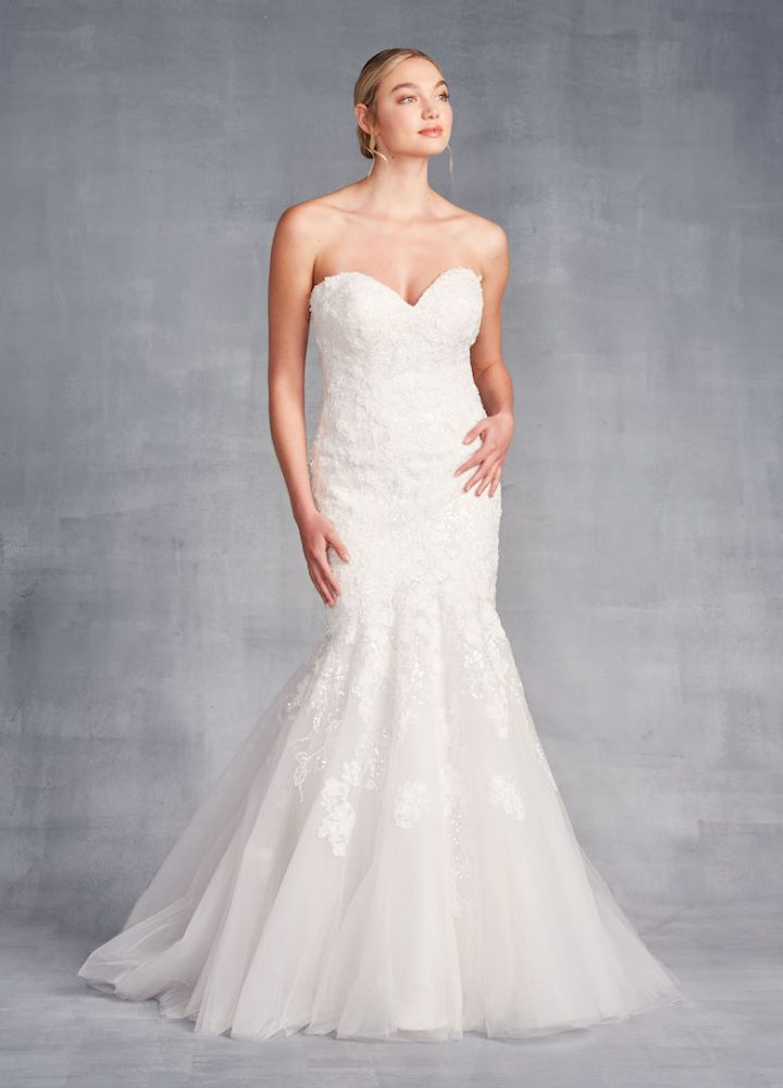 Strapless Sweetheart Neckline Mermaid Wedding Dress With Beading And Embroidery - Image 1