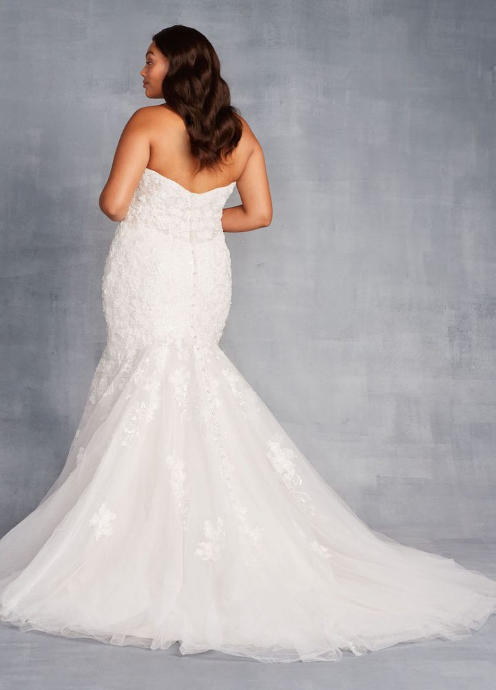 Strapless Sweetheart Neckline Mermaid Wedding Dress With Beading And Embroidery by Danielle Caprese - Image 2