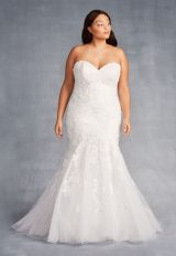 Strapless Sweetheart Neckline Mermaid Wedding Dress With Beading And Embroidery by Danielle Caprese - Image 1