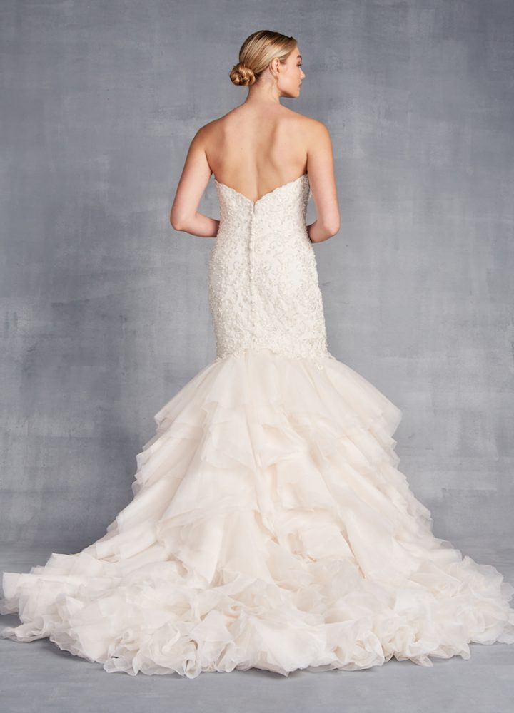 Strapless Sweetheart Neckline Mermaid Wedding Dress With Ruffle Skirt by Danielle Caprese - Image 2
