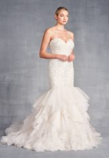 Strapless Sweetheart Neckline Mermaid Wedding Dress With Ruffle Skirt by Danielle Caprese - Image 1