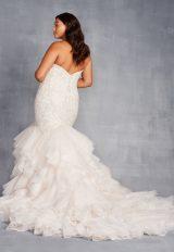 Strapless Sweetheart Neckline Mermaid Wedding Dress With Ruffle Skirt by Danielle Caprese - Image 2