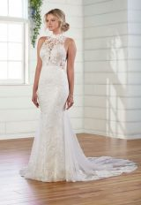 Halter Neck Sheath Wedding Dress by Essense of Australia - Image 1