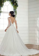 Long Sleeve Lace Ball Gown Wedding Dress by Essense of Australia - Image 2