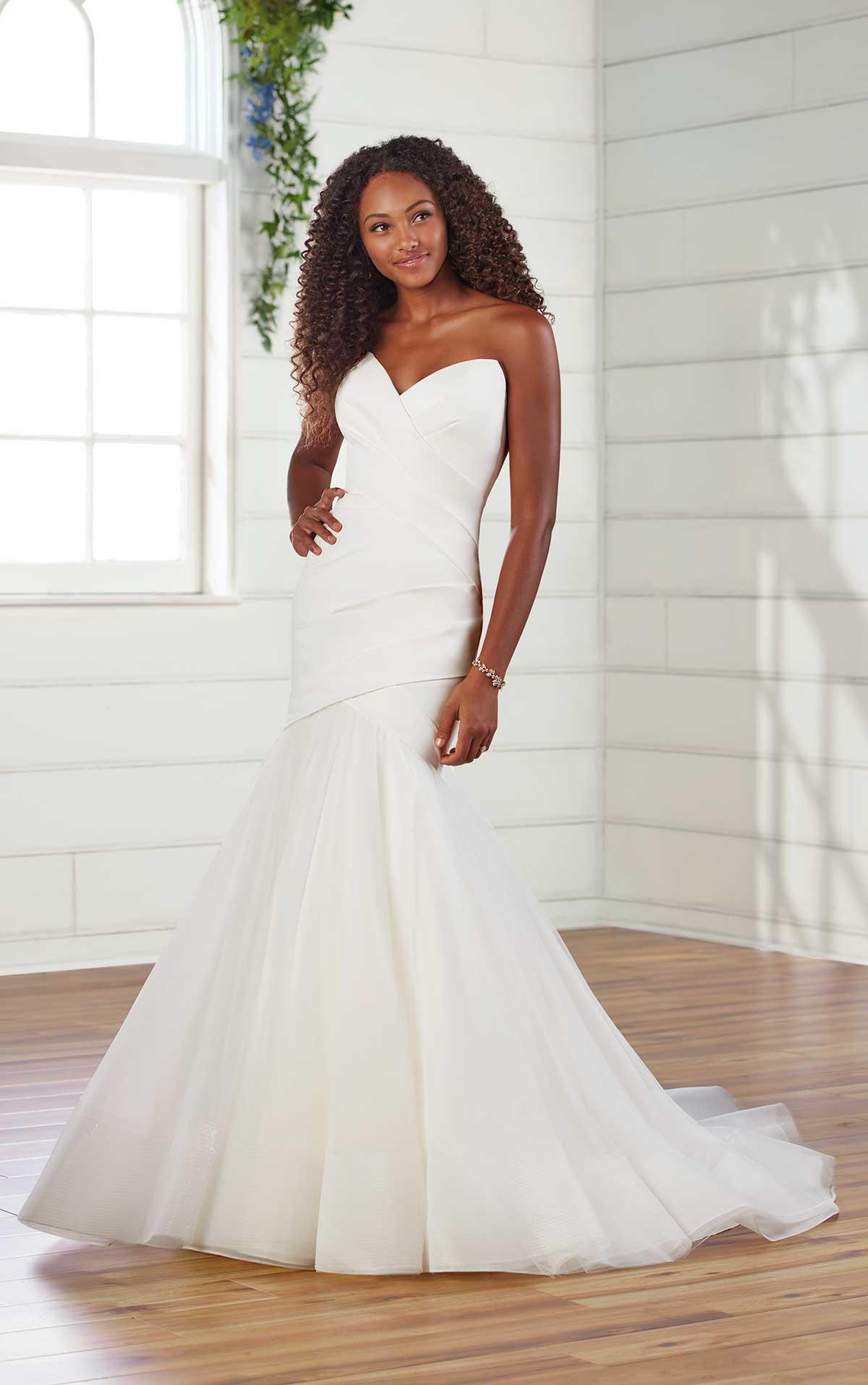 Strapless Pleated Fit And Flare Wedding Dress Kleinfeld Bridal,Wedding Dress Washington Dc