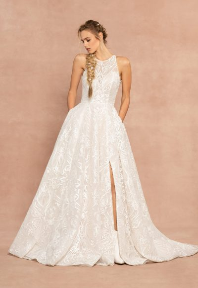 Sleevelss A-line Embroidered Wedding Dress by Hayley Paige