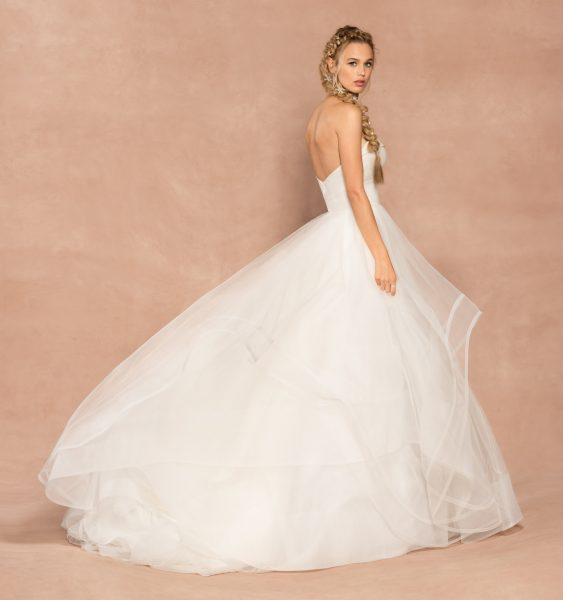Strapless Sweetheart Neckline Ball Gown Tulle Wedding Dress by Hayley Paige - Image 2