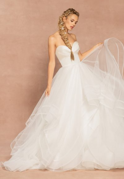 Strapless Sweetheart Neckline Ball Gown Tulle Wedding Dress by Hayley Paige