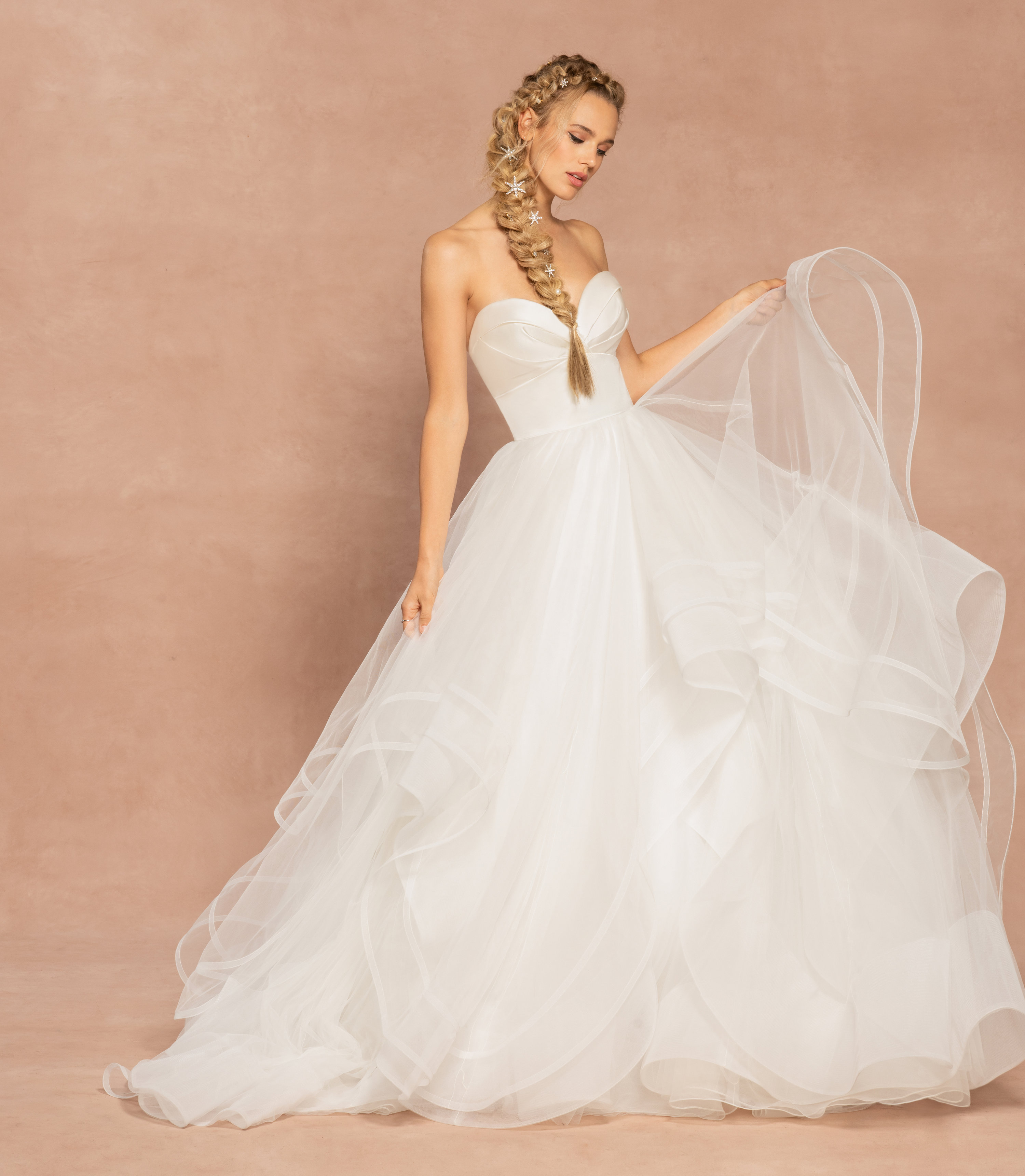 Strapless Sweetheart Neckline Ball Gown Tulle Wedding