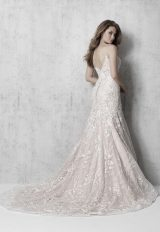 Spaghetti Strap Floral A-line Wedding Dress by Madison James - Image 2
