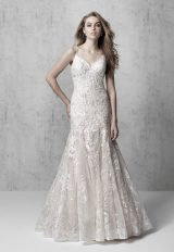 Spaghetti Strap Floral A-line Wedding Dress by Madison James - Image 1