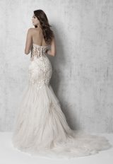 Strapless Beaded Fit And Flare Wedding Dress by Madison James - Image 2