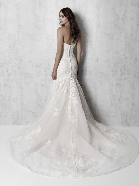 Strapless Ruched Fit And Flare Wedding Dress by Madison James - Image 2