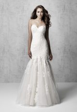 Strapless Ruched Fit And Flare Wedding Dress by Madison James - Image 1