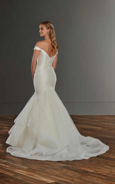Mermaid Off The Shoulder Wedding Dress With Tiered Skirt by Martina Liana - Image 2