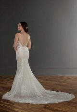 Sleeveless V-neck Lace Mermaid Wedding Dress by Martina Liana - Image 2