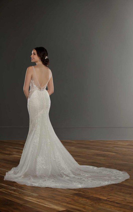 Sleeveless V-neck Lace Mermaid Wedding Dress by Martina Liana - Image 2