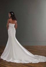 Strapless Silk Fit And Flace Wedding Dress by Martina Liana - Image 2