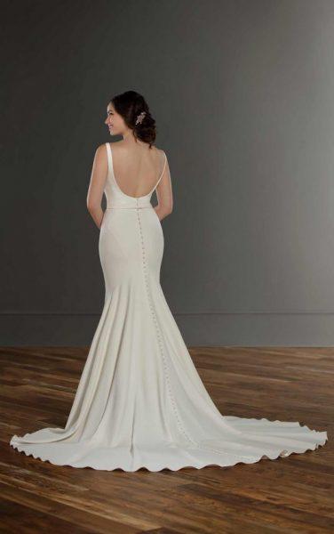 Stretch Crepe Sleeveless Wedding Dress by Martina Liana - Image 2
