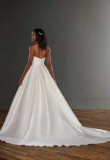V-neck Silk Ball Gown Wedding Dress by Martina Liana - Image 2