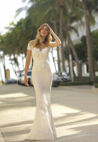 Sheath Lace Wedidng Dress by Randy Fenoli