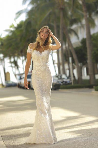 Sheath Lace Wedidng Dress by Randy Fenoli - Image 1