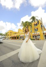 Sleeveless Sparkle Tulle Ball Gown Wedding Dress by Randy Fenoli - Image 1