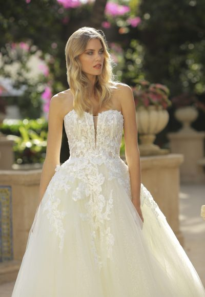 Strapless Tulle Ball Gown Wedding Dress by Randy Fenoli