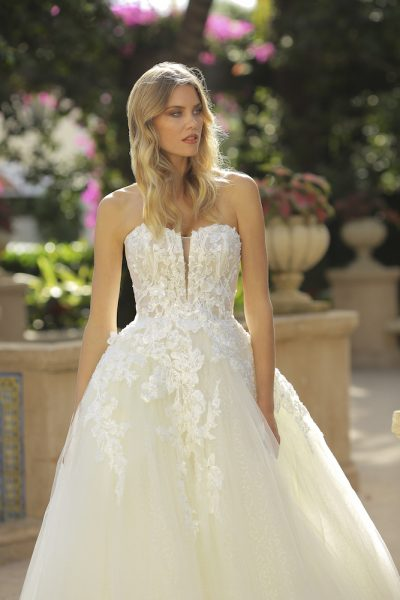 Strapless Tulle Ball Gown Wedding Dress by Randy Fenoli - Image 1