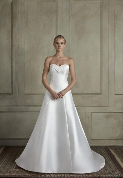 Strapless Sweetheart Fit And Flare Wedding Dress by Sareh Nouri
