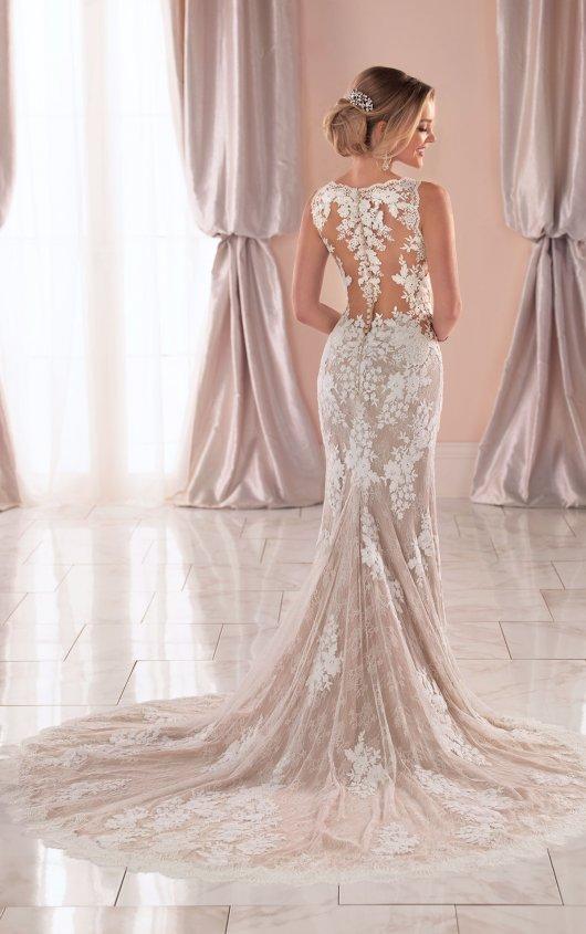 Sleeveless V-neck Lace Wedding Dress by Stella York - Image 2