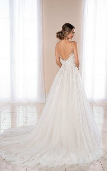Spaghetti Strap Ball Gown Wedding Dress by Stella York - Image 2