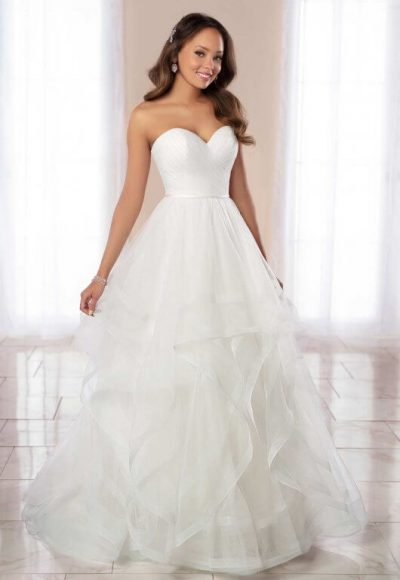 Strapless Ballgown Wedding Dress With Horsehair Skirt. by Stella York