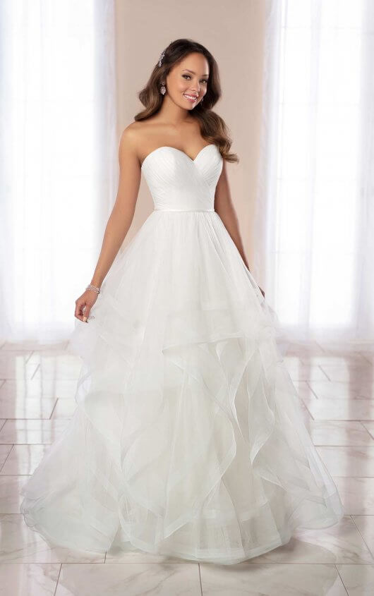 Strapless Ballgown Wedding Dress With Horsehair Skirt. by Stella York - Image 1