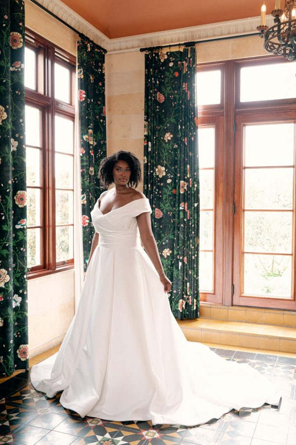 Simple Silk Ballgown Wedding Dress by Sareh Nouri - Image 1